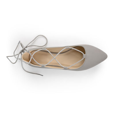 Journee Collection Fiona Lace-Up Flats