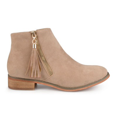 Journee Collection Trista Slip-On Ankle Booties