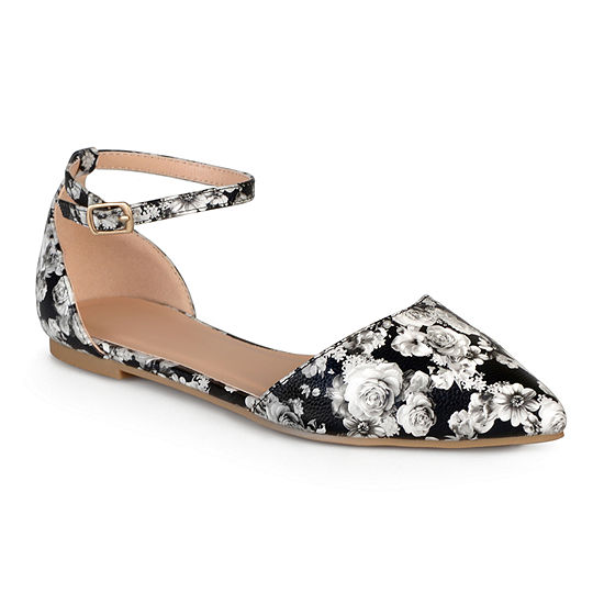 Journee Collection Womens Reba Ankle-Strap Ballet Flats