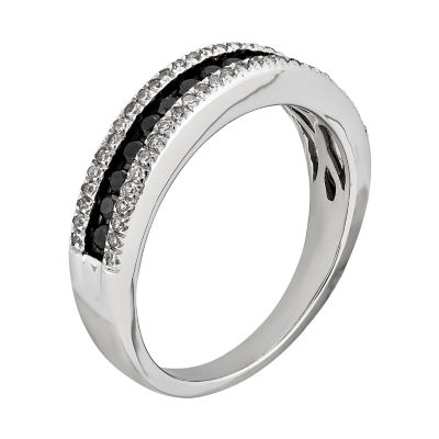 Womens 1/2 CT. T.W. Black Diamond Sterling Silver Band