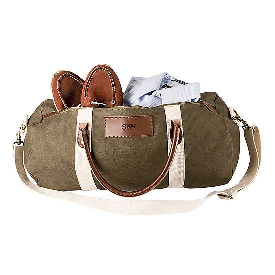 2a2cb30b9cb2 Cathy s Concepts Personalized Canvas and Leather Duffel Bag - JCPenney
