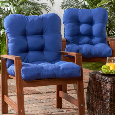 Outdoor Seat/Back Chair Cushion, Set of 2