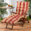 """72"""" Outdoor Chaise Lounger Cushion"""