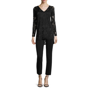 jcpenney.com | nicole by Nicole Miller® Burnout Top or Ankle Pants