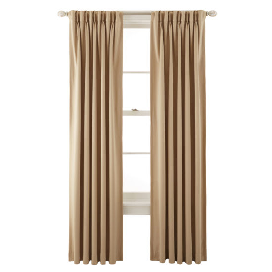 JCPenney Home™ Kathryn Room-Darkening Pinch-Pleat/Back-Tab Curtain Panel