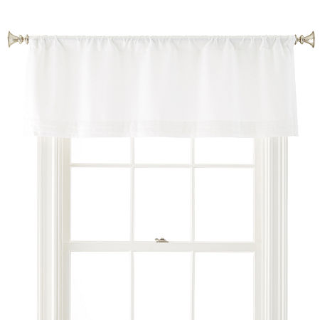 JCPenney Home Kathryn Rod-Pocket Tailored Valance, One Size , White