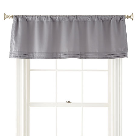 JCPenney Home Kathryn Rod-Pocket Tailored Valance, One Size , Gray