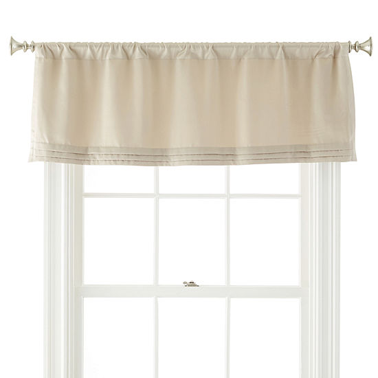JCPenney Home Kathryn Rod-Pocket Tailored Valance