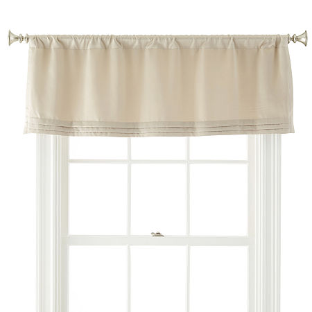 JCPenney Home Kathryn Rod-Pocket Tailored Valance, One Size , Beige