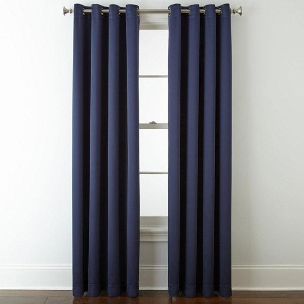 JCPenney Home Quinn Jacobean Grommet-Top Curtain Panel - JCPenney