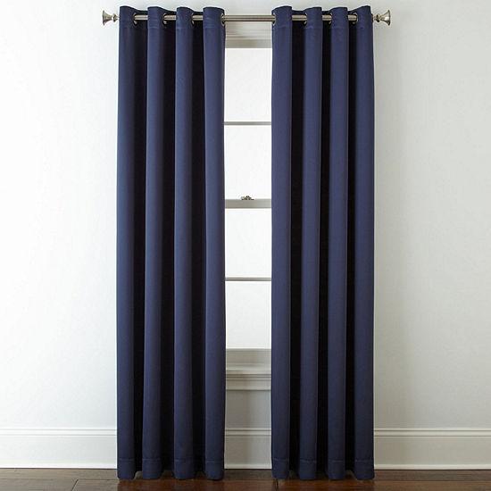 JCPenney Home™ Kathryn Room-Darkening Grommet-Top Curtain Panel