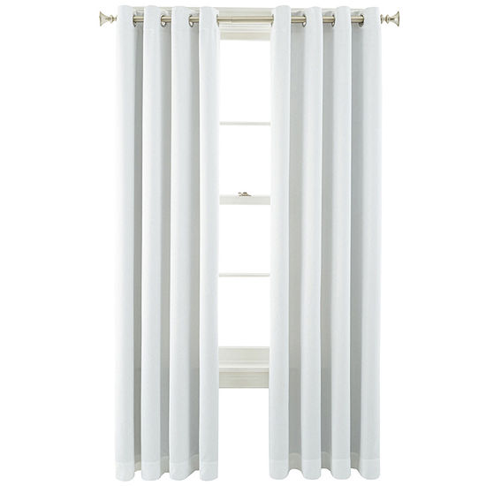 JCPenney Home Kathryn Energy Saving Light-Filtering Grommet-Top Single Curtain Panel