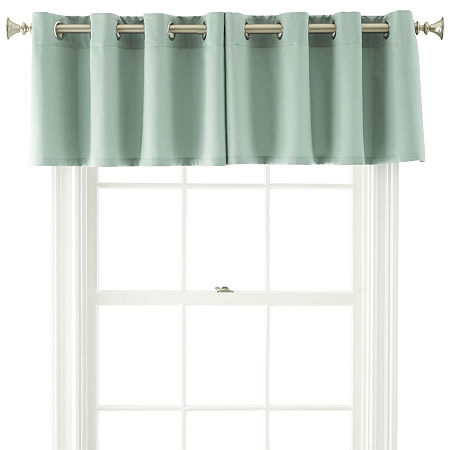 JCPenney Home Kathryn Grommet-Top Insert Valance, One Size , Green