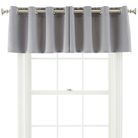 JCPenney Home Kathryn Grommet-Top Insert Valance, One Size , Gray