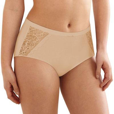 Bali Cotton Desire Lace Knit Brief Panty
