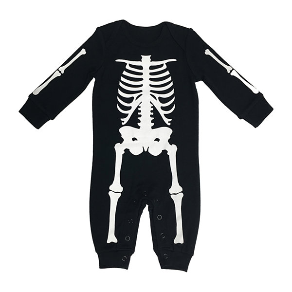 Skeleton Baby Family Baby Unisex Knit Long Sleeve One Piece Pajama