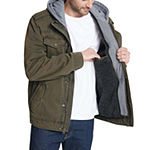 Levi's Washed Cotton Sherpa Lined Hooded Military Jacket