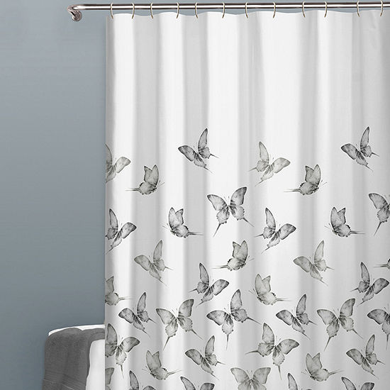 Zenna Home Butterfly Shower Curtain
