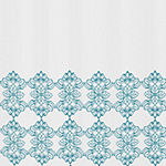Zenna Home Damask Embroidery Shower Curtain