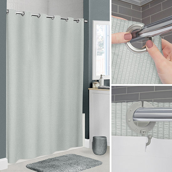 Maytex Mills Norwalk No Hooks Needed Shower Curtain