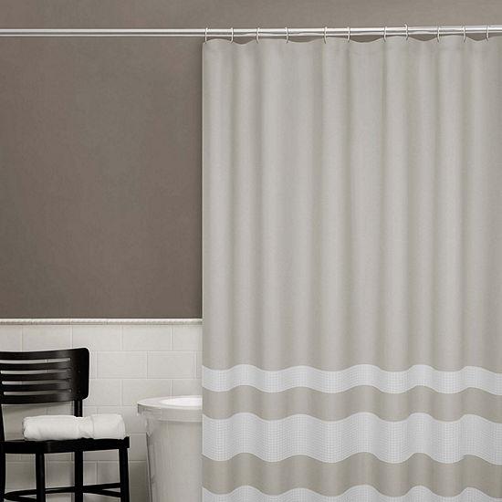 Zenna Home Waffle Stripe Shower Curtain