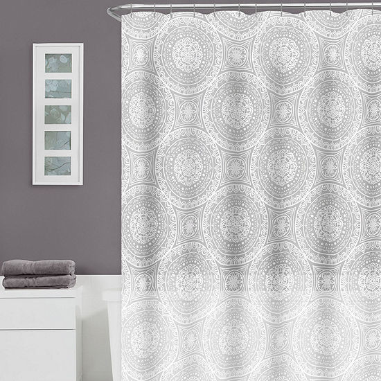 Zenna Home Medallion Shower Curtain