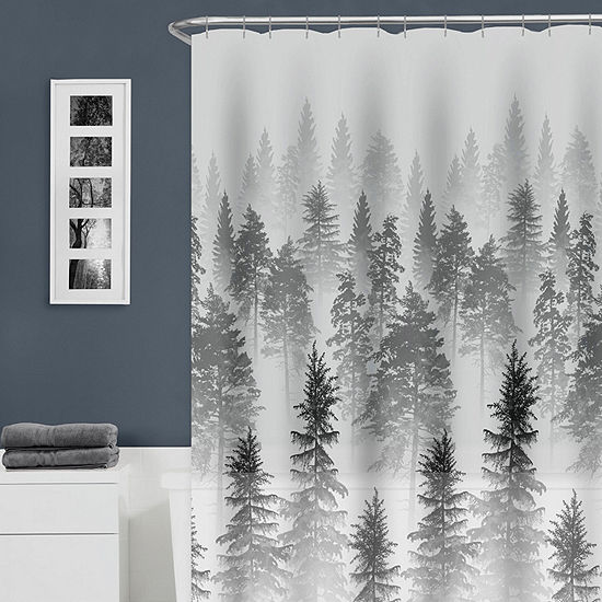 Zenna Home Tree Line Shower Curtain