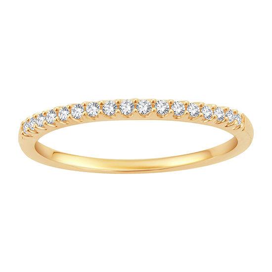 1/8 CT. T.W. Genuine White Diamond 10K Gold Wedding Band