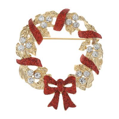 Monet Jewelry Wreath Multi Color Pin