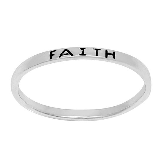 Itsy Bitsy Sterling Silver Faith Ring
