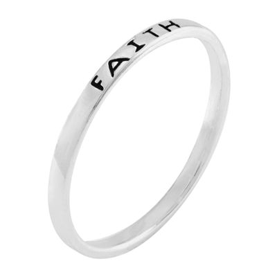 itsy bitsy™ Sterling Silver Faith Ring