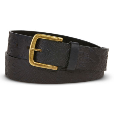 Embossed Flower Print Belt