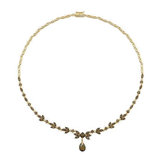 Color-Enhanced Smoky Quartz Necklace