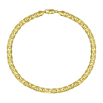 "Made in Italy 10K Yellow Gold 9"" Hollow Mariner Chain Bracelet"