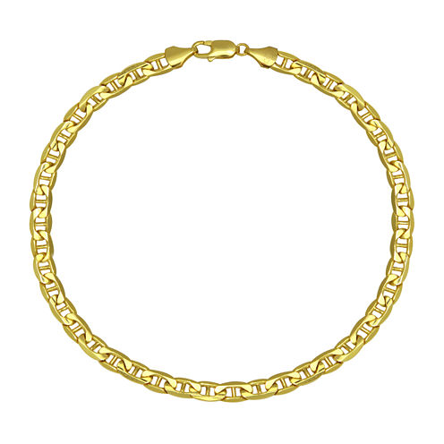 """Made in Italy 10K Yellow Gold 9"""" Hollow Mariner Chain Bracelet"""
