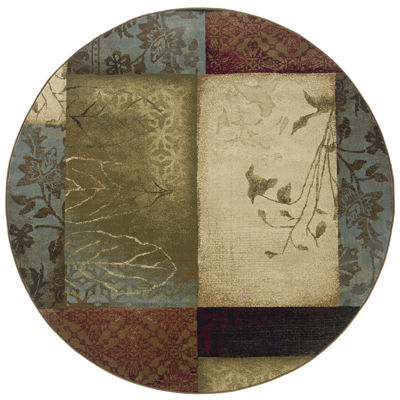 Covington Home Scrapbook Round Rug