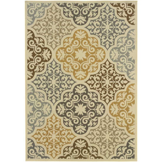 Covington Home Diamond Medallion Indoor/Outdoor Rectangular Rug