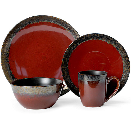 Gourmet Basics by Mikasa® Calder Red 16-pc. Dinnerware Set