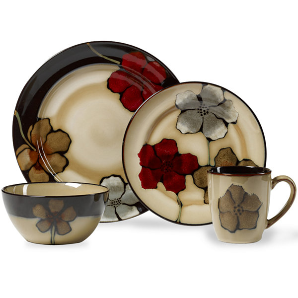 Pfaltzgraff® Painted Poppies 16-pc. Dinnerware Set  sc 1 st  JCPenney & Pfaltzgraff Painted Poppies 16 pc Dinnerware Set