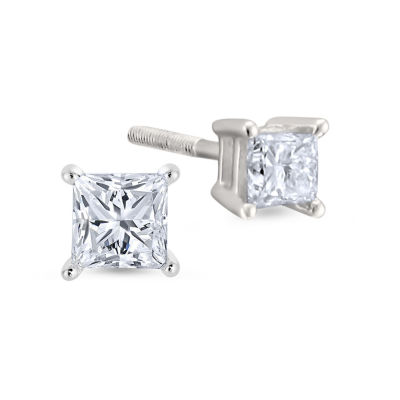 1/2 CT. T.W. Genuine White Diamond 14K Gold Stud Earrings