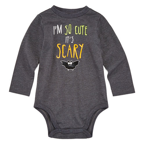 Okie Dokie® Long-Sleeve Scary Bodysuit - Baby Boys newborn-24m
