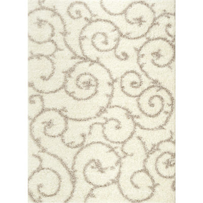 World Rug Gallery Florida Scroll Shag Rectangle Rug