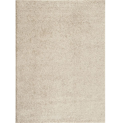 World Rug Gallery Florida Solid Shag Rectangle Rug