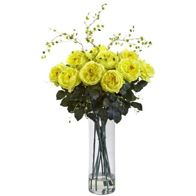 Nearly Natural Giant Fancy Rose & Willow Arrangement