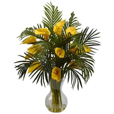 Nearly Natural Calla Lily & Palm Combo