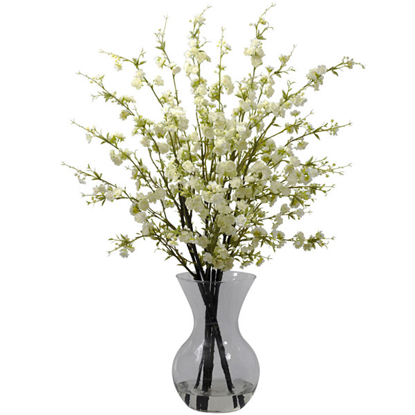 Cherry Blossoms Arrangement With Vase