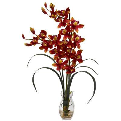 Cymbidium Orchid With Vase Arrangement