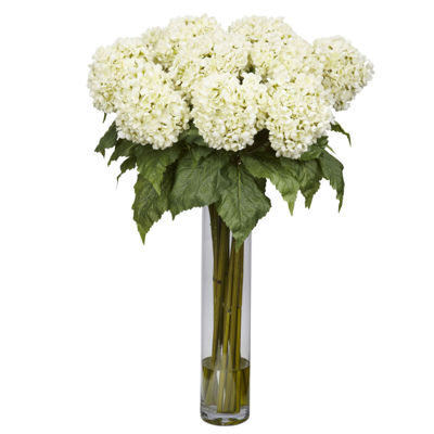 Nearly Natural Hydrangea Silk Flower Arrangement