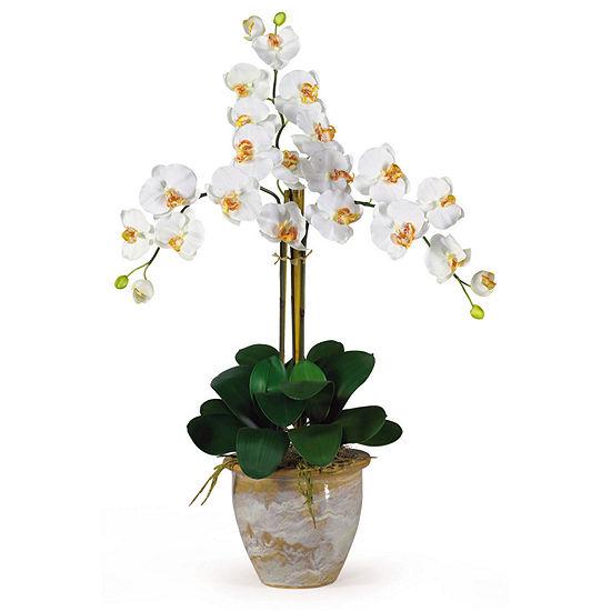 Nearly Natural Triple Phalaenopsis Silk Orchid Flower Arrangement