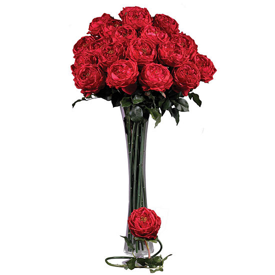 """Nearly Natural 31"""" Large Rose Stems - Set of 12"""
